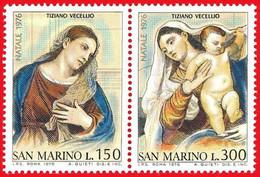 San Marino. 1976. Mi 1125 / 1126. Christmas. Tizziano Vecellio - Nuevos
