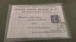 Lettre (cachet BRUYERES LE CHATEL) - 1928 -  établissements De Cultures De Graines De Semence - Railway Post