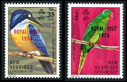 NOUVELLES-HEBRIDES 1974 - Yv. 388 Et 389 ** Cote= 4,40 EUR - Oiseaux. Visite Elizabeth II  NEW HEBRIDES  ..Réf.AFA23535 - Unused Stamps