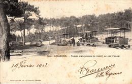 Thematiques 33 Gironde Arcachon Trains D'Excursions En Forêt Au Cap Ferret Timbre Cachet 20 02 1902 - Arcachon