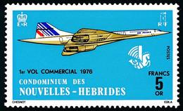 NOUVELLES-HEBRIDES 1976 - Yv. 424 **   Cote= 30,00 EUR - Avion CONCORDE. Légende Française. 1er Vol …  ..Réf.AFA23542 - Ungebraucht