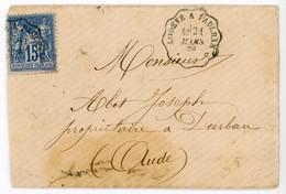 HERAULT ENV 1880 LODEVE A PAULHAN SUR SAGE ( CONVOYEUR LIGNE ) - 1877-1920: Semi Modern Period