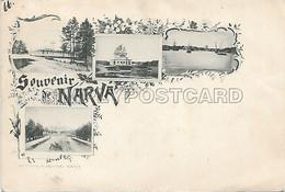 AK OLD POSTCARD - ESTONIA - SOUVENIR DE NARVA - PRIMI '900 - NON VIAGGIATA - W7 - Estonia