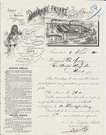 FRAMERIES - Dufrane - Friart  Imprimerie   1900 - Printing & Stationeries