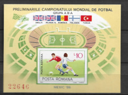 1985 MNH Romania Mi Block 219 - Blocks & Sheetlets