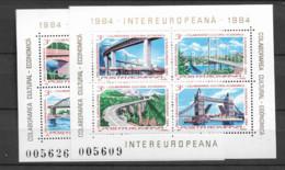 1984 MNH Romania Mi Block 202-3 - Blocks & Kleinbögen