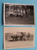 Oude Auto's / Old Cars / Vieilles Voitures ( Te Identificeren ) Anno 19?? ( Details Zie Foto's ) 9 X 6 Cm.( 2 X ) ! - Automobile