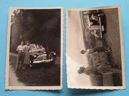 Oude Auto's / Old Cars / Vieilles Voitures ( Te Identificeren ) Anno 19?? ( Details Zie Foto's ) +/- 9 X 6 Cm.( 2 X ) ! - Automobile