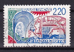 FRANCE 1988 - Thermalisme Variété Doigts Coupés Oblitéré YT 2556b - Kuriositäten: 1980-89 Gebraucht