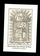 Santino - S. Nicola Da Bari - Venerato A Summonte ( Avellino ) - Devotion Images