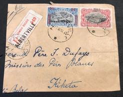 OBP 90 + 98 Op Groot Fragment Recommande ALBERTVILLE - KIHETA - 1894-1923 Mols: Usati