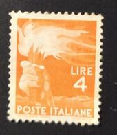 1945 -  ITALIA REPUBBLICA   -  DEMOCRATICA  -   VALORE LIRE 4  -   USATO - Unclassified