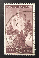 1945 -  ITALIA REPUBBLICA   - DEMOCRATICA  -    VALORE LIRE 50  -   USATO - Unclassified