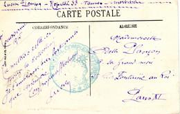 Carte Postale De Vannes Avec Cachet De L'hopital Complementaire No 33 1915. - Sin Clasificación