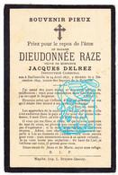 DP Dieudonnée Raze ° Baillonville Somme-Leuze 1831 X Instituteur Communal Jacques Delrez - Andachtsbilder