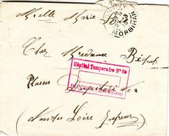 Env. De Pontivy Avec Cachet De L'hopital Temporaire No. 60 1916 - Sellos Militares Desde 1900 (fuera De La Guerra)