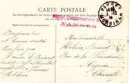 Carte Postale Du Moulin De La Vallee De Tre-Auray, , Morbihan Avec Cachet De L'hopital No.62 De Vannes 1915 - Sainte Anne D'Auray