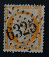38c Orange Vif (cote 18 €) Obl BUREAU SUPPLEMENTAIRE GC 6325 Marseille-cours-du-chapitre (12 Bouches Du Rhone ) Ind 1 - 1849-1876: Periodo Classico