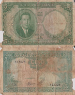 Indochina / 5 Piastres / 1953 / P-106(a) / VG - Indochina