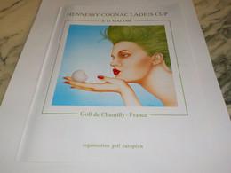 ANCIENNE PUBLICITE GOLF DE CHANTILLY 1986 - Other
