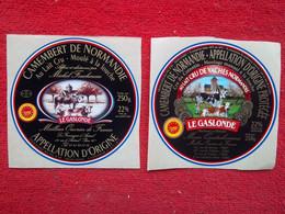 """Etiquettes De Camembert """"spéciale Palais De L'Élysée"""" (pourtour Bleu/blanc/rouge) Lot De 2 ! - Cheese"""