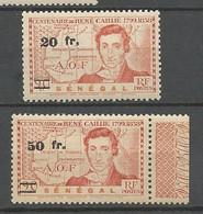 SENEGAL N° 196 Et 197 NEUF**  SANS CHARNIERE  / MNH - Unused Stamps