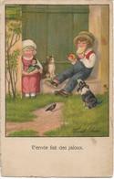 ILLUSTRATEUR - L'envie Fait Des Jaloux - Enfant - Chien - Chat - Oiseau - Par PAULI EBNER - Ebner, Pauli