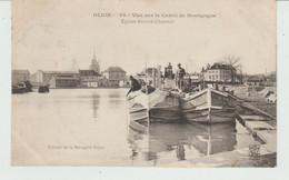 CPA DIJON (21) VUE SUR LE CANAL DE BOURGOGNE  - EGLISE SAINTE-CHANTAL  ANIMEE - Dijon