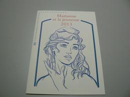 D 260 / LOT SOUVENIR PHILATELIQUE MARIANNE ET LA JEUNESSE / 4 SCANS - Collections