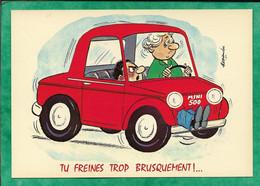"""836 Série Voitures """"Tu Freines Trop Brusquement !"""" 2scans Voiture Conduite Mini 500 Illustrateur Alexandre - Humor"""