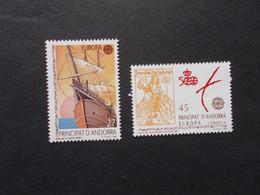 ANDORRE ESPAGNE    -  CEPT   N° 216/ 217 Année 1992  Neuf XX ( Voir Photo ) - 1992