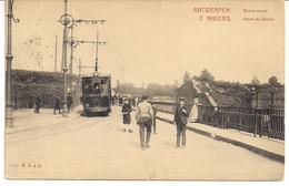 """ANTWERPEN-ANVERS """" BREDA POORT MET ELEKTRISCHE TRAM-PORTE DE BREDA AVEC TRAM ELECTRIQUE"""" - Antwerpen"""