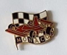 Pin's  Sport  Automobile  F 1  MONACO, Voiture  Rouge  FERRARI ? - F1