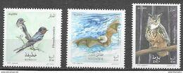 ALGERIA, 2020, MNH, BIRDS, BATS, OWLS, 3v - Búhos, Lechuza