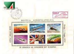 Rovigo 1972 - Omaggio Al Concorde - Mostra Aerofilatelica - Bloc 6 Vignettes Dorées - Avion Airplane Flugzeug - 1971-80: Marcofilie