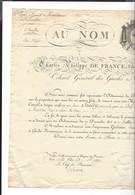 Charles Philippe , Comte D'Artois ( Futur Charles X)  Brevet  Xavier Saulty  1817 Versailles Sign. + Baron De Kentzinger - Historical Documents