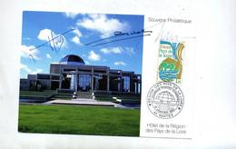 Carte Cachet  Nantes Region Pays De Loire Signé ??? Vue Hotel De Region - Commemorative Postmarks