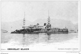 GUERRE - MARINE  FRANCAISE - à Toulon - Cuirassé D'escadre (Chocolat Klaus) - Guerra