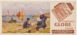Buvard ? - Publicité Illustrée Tabac Du Globe Cigarettes, Filtre, (1908-1948) (lot N°8) - Tobacco