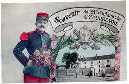 92  COURBEVOIE   SOUVENIR DU 24e D'INFANTERIE - Courbevoie
