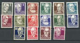 DDR Michel Nummer 327-341 Ungebraucht Falz - Unused Stamps