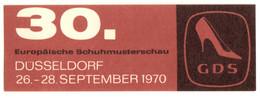 """Düsseldorf 1970"""" GDS 30.Europäische Schumusterschau """" Vignette Cinderella Reklamemarke - Cinderellas"""