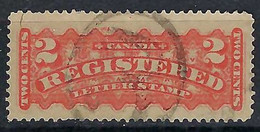 "CANADA Recommandés 1875: Le Y&T 1 Obl. ""R Dans Un Cercle"" - Recomendados"