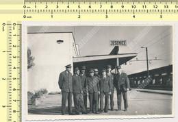 REAL PHOTO - JESENICE Railway Station TRAIN In Railway Station Men Railway Workers JZ, Slovenia ORIG. SNAPSHOT - Trains