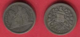§25 CENT 1890 ( Km 208.2  ]  TB12 - Guatemala