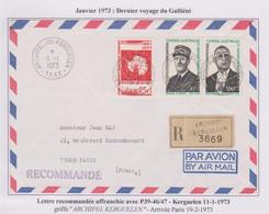 TAAF - Iles Australes - Kerguelen - Recommandé - De Gaulle - Traité - Lettres & Documents