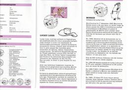 LUCKY LUKE : Notice 1er Jour Des Postes Belges Avec Timbre Et Oblitération. 1990: - Cómics