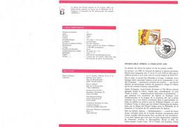 SPIROU : Notice 1er Jour Des Postes Belges Avec Timbre Et Oblitération. 1988. - Cómics