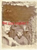 PHOTO ALLEMANDE - SOLDATS DANS UN SOUTERRAIN DE VAUQUOIS PRES DE VARENNES EN ARGONNE - MARNE - GUERRE 1914 1918 - 1914-18