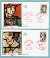 FDC France 1979 - Croix Rouge 1979 - Hérodiade Et Simon Le Magicien - YT 2070 Et 2071 - 76 Rouen (soie) - 1970-1979